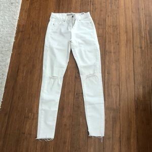 Topshop white Leigh jeans